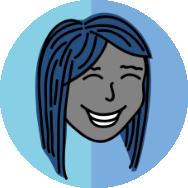 blue hair logo